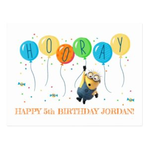 Despicable Me | Minion Balloon Happy Birthday Postcard