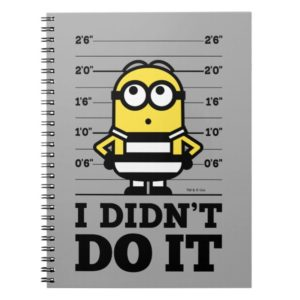 Despicable Me | Minion Dave - I Didn't Do It Notebook