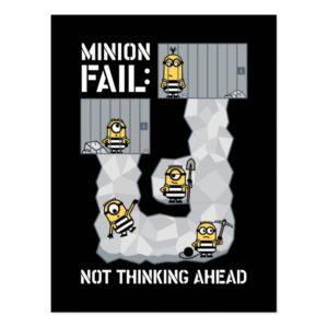 Despicable Me | Minion Fail: Not Thinking Ahead Postcard
