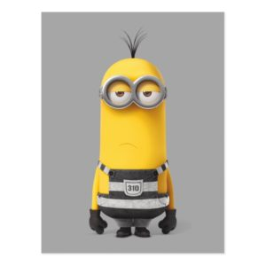 Despicable Me   Minion Kevin in Jail Postcard