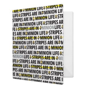 Despicable Me | Minion Life Text Pattern 3 Ring Binder