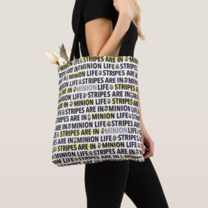 Despicable Me | Minion Life Text Pattern Tote Bag