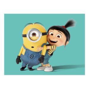 Despicable Me   Minion Stuart & Agnes Postcard