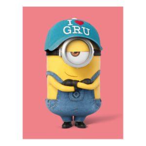 Despicable Me | Minion Stuart - I Love Gru Postcard