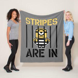 Despicable Me | Minion Stuart Stripes are in Fleece Blanket
