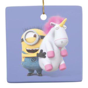 Despicable Me   Minion Stuart & Unicorn Ceramic Ornament