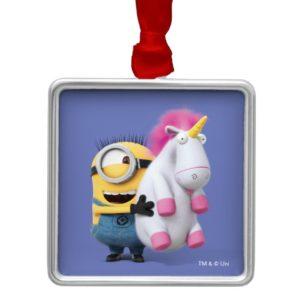 Despicable Me | Minion Stuart & Unicorn Metal Ornament