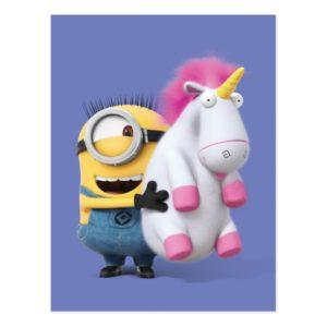 Despicable Me | Minion Stuart & Unicorn Postcard