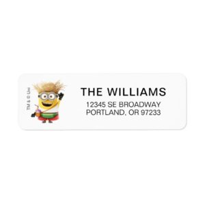 Despicable Me | Minion Tom on Vacation Label