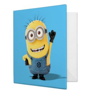 Despicable Me | Minion Tom Waving 3 Ring Binder