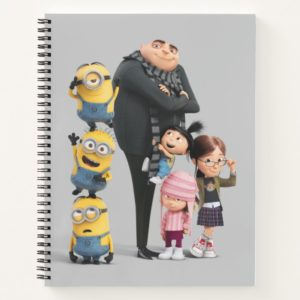 Despicable Me | Minions, Gru & Girls Notebook
