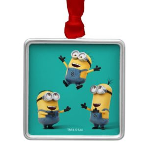 Despicable Me | Minions Jumping Metal Ornament