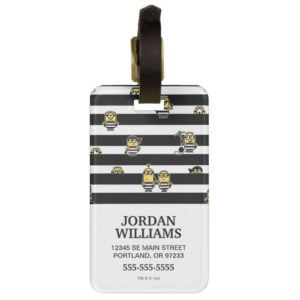 Despicable Me | Minions - Stripes are in Pattern Bag Tag
