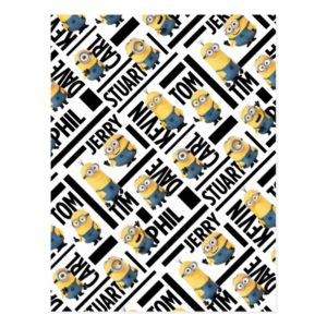 Despicable Me | Minions with Names Pattern Postcard
