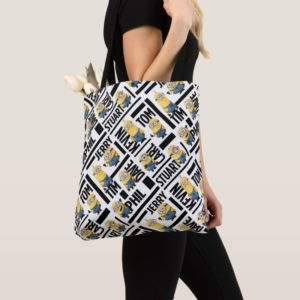 Despicable Me | Minions with Names Pattern Tote Bag
