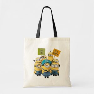 Despicable Me   Minions with Signs Tote Bag