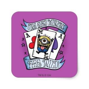 Despicable Me | One Eyed Minions are Wild Square Sticker
