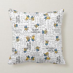Despicable Me | Team Minion Pattern Throw Pillow