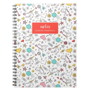 Despicable Me | Unicorn and Icon Pattern Notebook