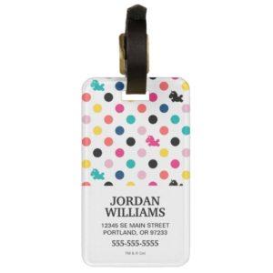Despicable Me | Unicorn Polka Dot Pattern Bag Tag