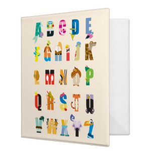 Disney Alphabet Mania 3 Ring Binder