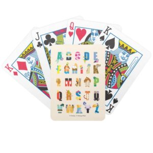 Disney Alphabet Mania Bicycle Playing Cards