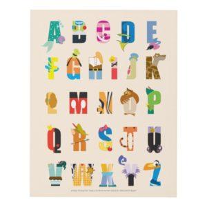 Disney Alphabet Mania Panel Wall Art