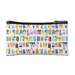 Disney Alphabet Mania Pattern Makeup Bag