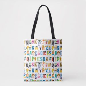 Disney Alphabet Mania Pattern Tote Bag