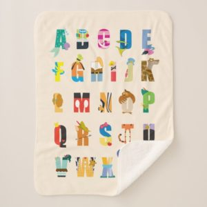 Disney Alphabet Mania Sherpa Blanket