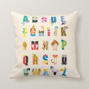 Disney Alphabet Mania Throw Pillow