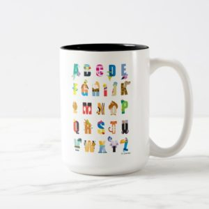 Disney Alphabet Mania Two-Tone Coffee Mug