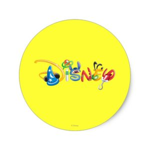 Disney Logo | Boy Characters Classic Round Sticker