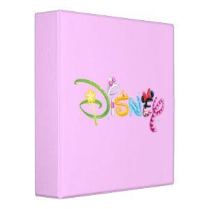 Disney Logo   Girl Characters Binder