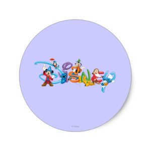 Disney Logo | Mickey and Friends Classic Round Sticker