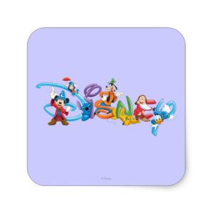 Disney Logo | Mickey and Friends Square Sticker