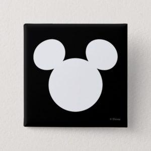 Disney Logo | White Mickey Icon Button