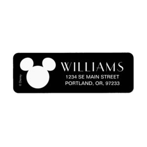 Disney Logo | White Mickey Icon Label