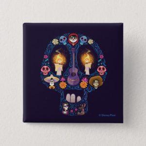 Disney Pixar Coco | Character Sugar Skull Pinback Button