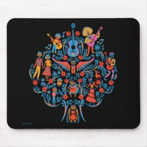 Disney Pixar Coco | Colorful Character Tree Mouse Pad