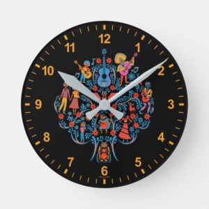 Disney Pixar Coco | Colorful Character Tree Round Clock