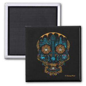 Disney Pixar Coco | Colorful Ornate Skull Guitar Magnet