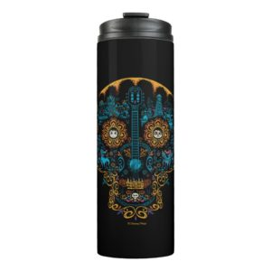 Disney Pixar Coco | Colorful Ornate Skull Guitar Thermal Tumbler