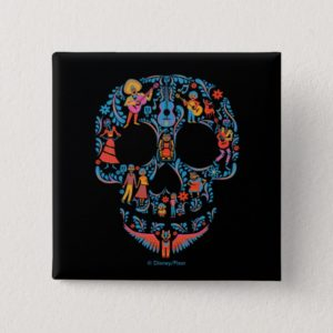 Disney Pixar Coco | Colorful Sugar Skull Button