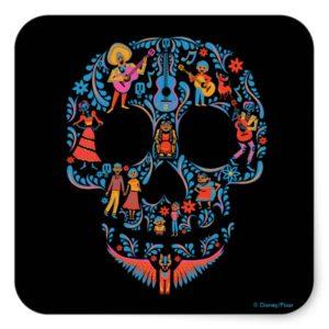 Disney Pixar Coco | Colorful Sugar Skull Square Sticker