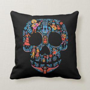 Disney Pixar Coco | Colorful Sugar Skull Throw Pillow