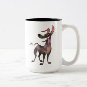 Disney Pixar Coco | Dante | Funny Tongue Out Two-Tone Coffee Mug