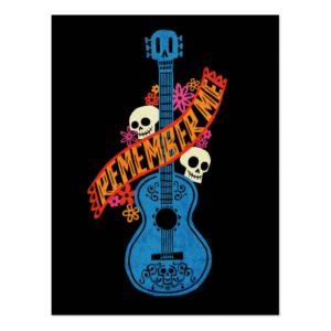 Disney Pixar Coco | Guitar Sugar Skulls Typography Postcard