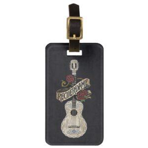 Disney Pixar Coco | Rustic Recuerdame Guitar Bag Tag