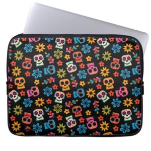 Disney Pixar Coco | Sugar Skull & Floral Pattern Laptop Sleeve